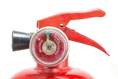 Mini red portable fire extinguisher Royalty Free Stock Images