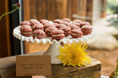 Mini Red Velvet Whoopie Pies Royalty Free Stock Images