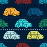 Mini retro samochodowy bezszwowy wektoru wzór Obrazy Stock