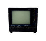 Mini retro TV Immagine Stock