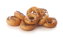 Mini ring-shaped cracknels with poppy Stock Photo