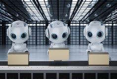 Mini robô com caixas ilustração royalty free
