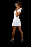 Mini robe blanche Images libres de droits