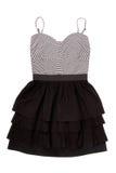 Mini-robe noire et blanche Photo stock