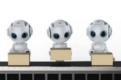 Mini robot con le scatole illustrazione di stock