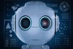 Free Mini Robot With Hud Stock Images - 125709064
