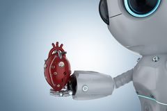 Free Mini Robot With Robotic Heart Stock Photo - 130185450