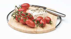 Mini Roma Tomatoes with Feta Cheese. Royalty Free Stock Images