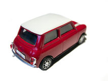 Mini rood stuk speelgoed autoachtergedeelte Stock Foto's