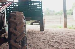 Mini roue de tracteur Images stock