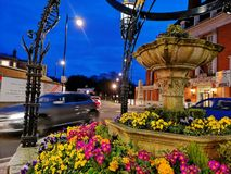 Mini roundabout in Richmond , London stock images