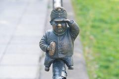 Mini rzeźba żołnierz Svejk w Uzhgorod Zdjęcie Stock