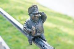 Mini rzeźba żołnierz Svejk w Uzhgorod Obraz Royalty Free