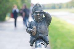 Mini rzeźba żołnierz Svejk w Uzhgorod Fotografia Royalty Free