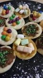Mini słodkie pizze Zdjęcia Stock