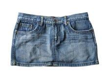 Mini saia das calças de brim imagens de stock