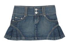 Mini-saia das calças de brim imagens de stock