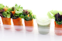 Mini salade Photographie stock libre de droits