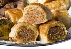 Mini salsiccia Rolls del partito Fotografie Stock Libere da Diritti
