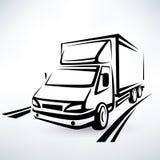Mini samochód dostawczy zarysowywający nakreślenie Zdjęcie Royalty Free