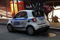 MINI samochód NYPD Zdjęcia Royalty Free