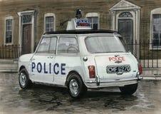 Mini samochód policyjny Zdjęcia Stock