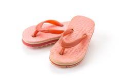 Mini sandal. On white background Stock Images