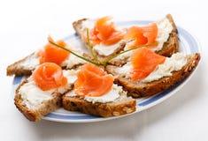 Mini sanduíches Imagem de Stock Royalty Free