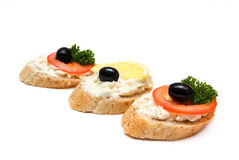 Mini sanduíches Fotografia de Stock Royalty Free