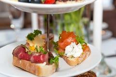Mini sanduíches Fotos de Stock