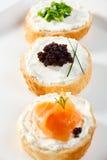 Mini sanduíches Imagens de Stock