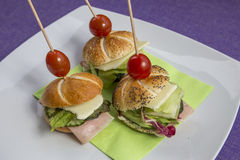 Mini sandwich set Royalty Free Stock Image