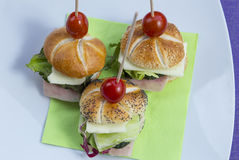 Mini sandwich set Stock Photography