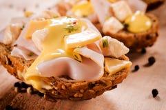 Mini sandwichs Photo libre de droits