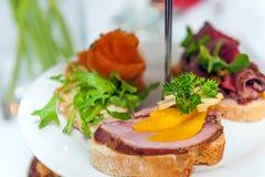 Mini sandwichs Images libres de droits