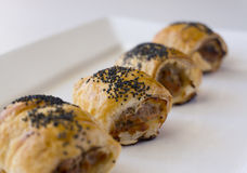 Mini Sausage rolls Royalty Free Stock Photos