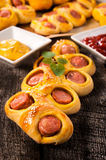 Mini sausages in pastry Stock Photography