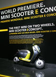 Mini Scooter E Concept at Paris Motor Show Royalty Free Stock Photo
