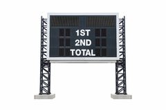 Mini scoreboard stadium. with clipping path.  Royalty Free Stock Photo