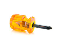 Mini screwdriver on white Royalty Free Stock Photo