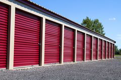 Mini Self Storage Rental Units Lizenzfreies Stockfoto