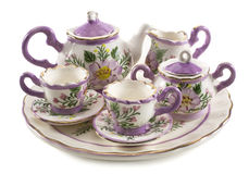 Mini set of tea service Stock Photos