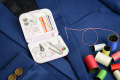 Free Mini Sewing Kit And Thread Coil Stock Photos - 66388173