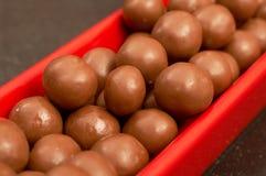 Mini sfere del cioccolato Fotografia Stock