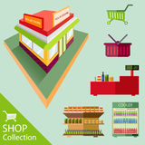 Mini shop and Acccessories Royalty Free Stock Image
