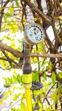 Mini shower tree machine with nature background Royalty Free Stock Images