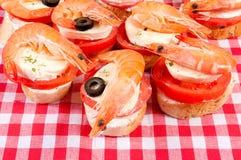 Shrimp time Stock Image