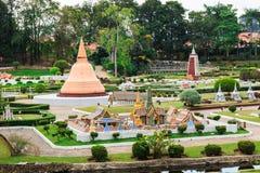 Mini Siam i Thailand Fotografering för Bildbyråer