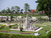 MINI SIAM MINIATYR PARKERAR, PATTAYA, THAILAND Arkivfoto