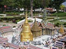 MINI SIAM MINIATYR PARKERAR, PATTAYA, THAILAND Royaltyfri Foto